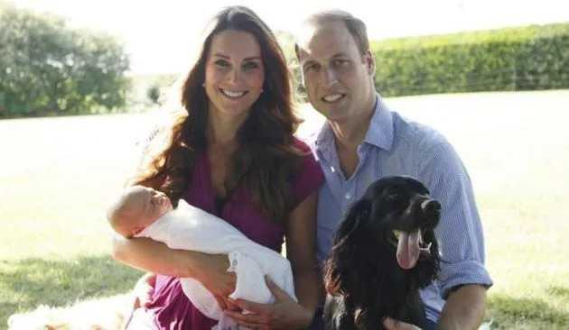 Принц и Кейт с сыном Георгом