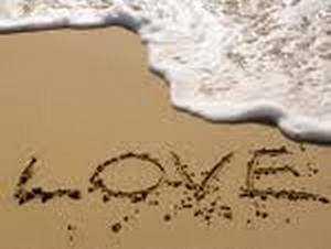 Признание в любви на песке